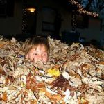 Jumping in a pile of leaves is just one outdoor activity your kids will enjoy