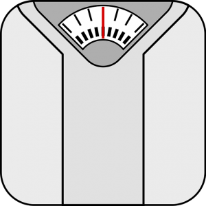 Bathroom scale for tracking weight loss