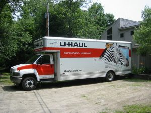 Uhaul truck for moving