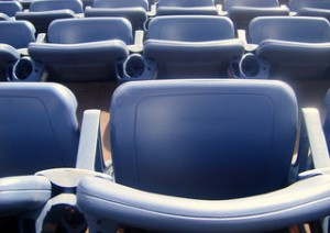seats at a sporting event