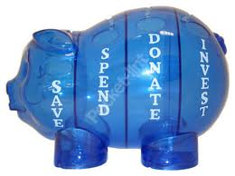 see-through piggy bank