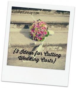 3 Ideas for Cutting Wedding Costs