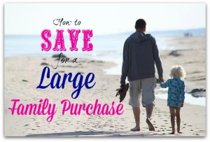 how to save for a large family purchase