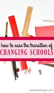 If you're child will be attending a new school this year there's a lot you can do to prepare. Here's how to eat the transition of changing schools.