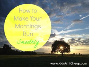 make your mornings run smoothly