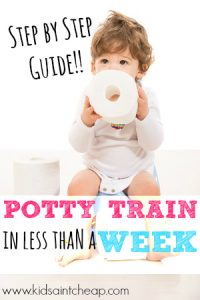 Potty training doesn't have to be so frustrating. Here's how I potty trained my daughter in less than a week! It can work for you, too.