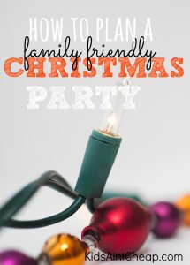 Will you be the holiday host this year? If so, here are some great ideas on how to plan a family friendly Christmas party that everyone will be sure to love!