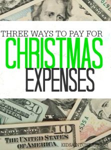 Worried you're going to bust your Christmas budget? If so, check out these three ways to pay for your Christmas expenses!