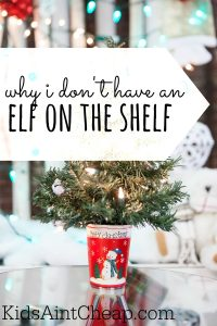 I'm torn as to whether my family should adopt an elf on the shelf. Here's why we currently do not have one.