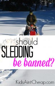 All across North American cities are banning sledding? But is it necessary to ban something like this? Here's my take.