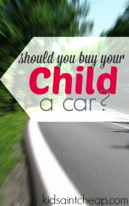 Should you buy your kid a car? This a question that pops up for parents with teenage kids and there is no easy answer. Here's what we think.