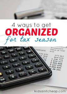 Looking to get organized for tax season? Here are four systems that will save you time and stress when the tax deadline rolls around. #BeatTheDeadline