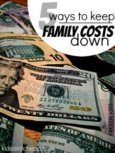Let's be real - having a family is expensive! Here are five smart ways to keep family costs down.