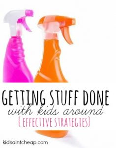 Getting stuff done when the kids are around is hard but not impossible. Here are the steps I take to make it happen!
