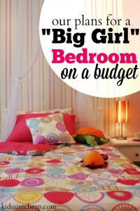 Our daughter is quickly outgrowing her room. So, we've decided to do a big girl bedroom on a budget. Here are budget friendly decorating plans.