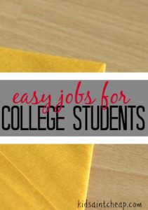 Making money in college doesn't mean you have to work at the local pizza place. Here are some easy jobs for college students that won't tie you down.