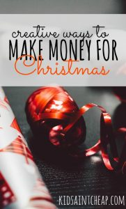 Coming up short on shopping money this year? Instead of reaching for the credit cards try these creative ways to make money for Christmas.