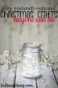Looking for some cute but easy crafts to do with your kids? Here are my favorite Pinterest inspired Christmas crafts that anyone can do.