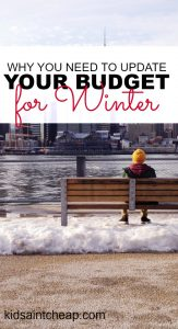 The cold is coming and now is a perfect time to make sure you're on track financially. Here's why you should address your winter budget.