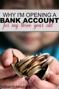 Thinking of opening a bank account for your little one? Here's why I'm opening a bank account for my three year old.