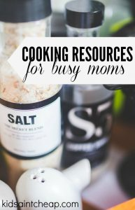 Between working full time and taking care of a family cooking can be a chore. These five resources help me simplify when cooking for my family.