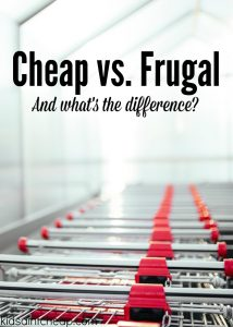 There's a big difference between being cheap and being frugal. Here are three areas that makes this differentiation pretty clear!