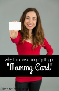 When I first heard of business cards for parents I thought it was a joke. Now I'm considering having a mommy card made. Here's why.