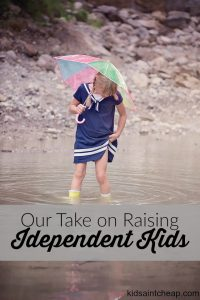 In our effort to raise independent kids my husband and I support our daughter in her choices. Although, there are some things we won't budge on.