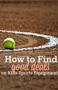 If you're feeling the financial pinch from your child's extracurricular's here's how to find good deals on kids sports equipment.