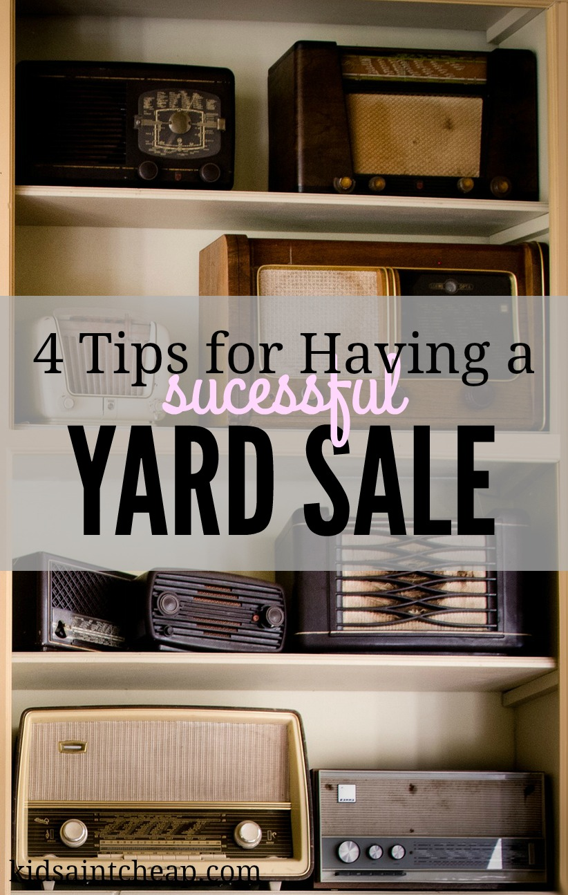 tips for having a yard sale