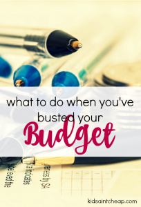 Even with careful planning it's easy to spend more money than you want to. Here's what to do when you've busted your budget.