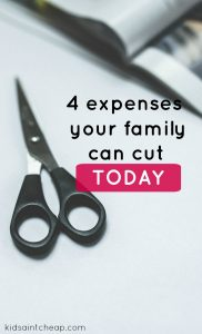 If you need to save money in a hurry here are four expenses your family can start cutting today! These small changes can have a big impact.