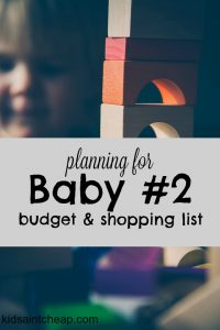 When I found out I was pregnant with our second child I started planning for all the things I need. Here's my $500 budget and ideas for planning for baby #2
