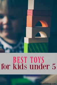 If you're buying a gift for a little one and want to spend your money on something that will actually be used here are my favorite toys for kids under 5.