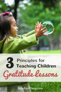 Image for teaching children gratitude lessons