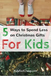 5 ways to find cheap Christmas gifts for kids.