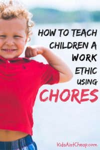 Here are five chores that teach work ethic principles to toddlers.