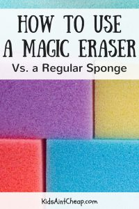 I finally figured out how to use a Magic Eraser, first hand. Definitely different than normal sponges.