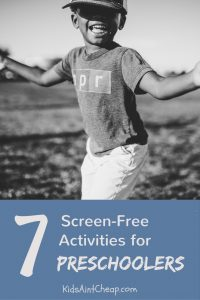 Here are several screen-free activities for preschoolers!