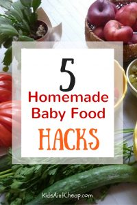 If you're just getting started in the world of DIY baby food, here are some homemade baby food hacks that will help you get started.