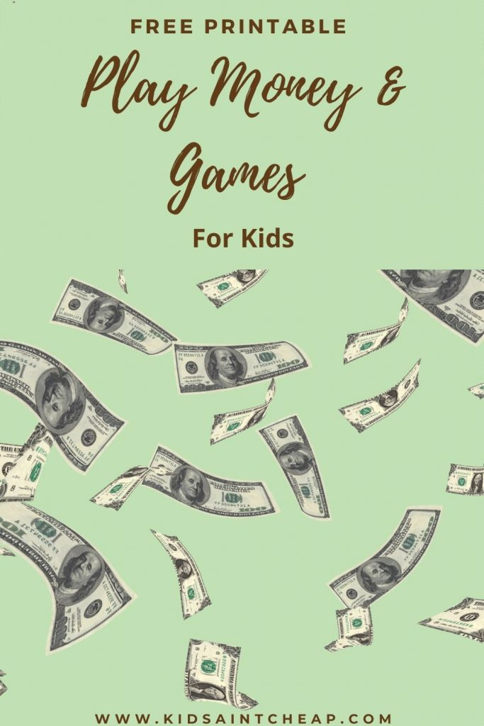 play money for kids