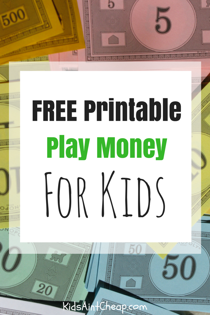printable kids money