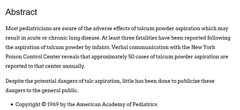 abstract from the american academy of pediatrics
